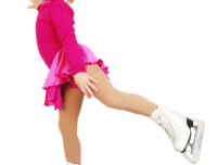 Young kids can learn how to do a figure skating spin with training
