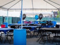 Host special events, picnics and barbecues under the tent at Aviators Sports