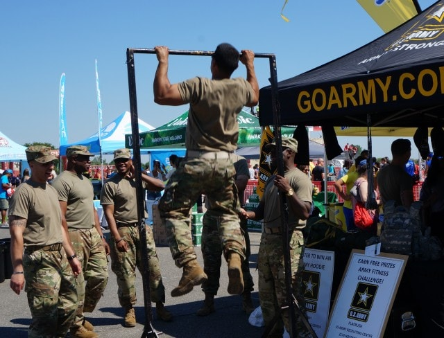Go Army Pull Up Sponsor Photo