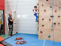 Rock climbing birthday party fun at Aviator