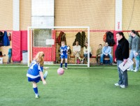Indoor soccer is a great choice for a sports birthday party!