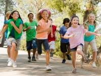 Kids running at Aviator camp Brooklyn
