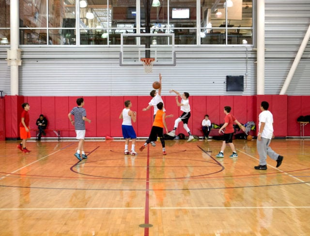 Join a competitive basketball league at Aviator
