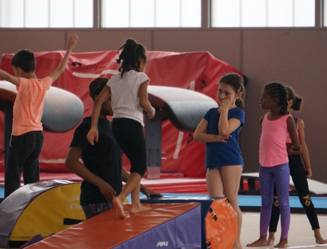 Tumbling and trampoline at Aviators is fun for kids of all ages