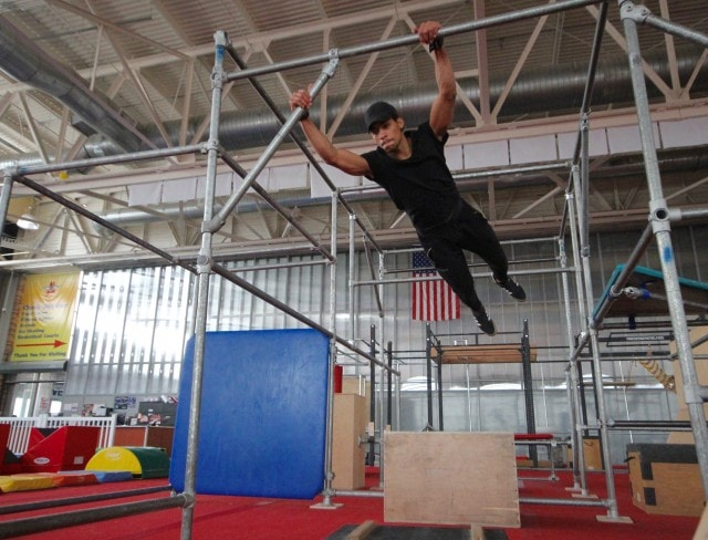 metal bars can be used in parkour