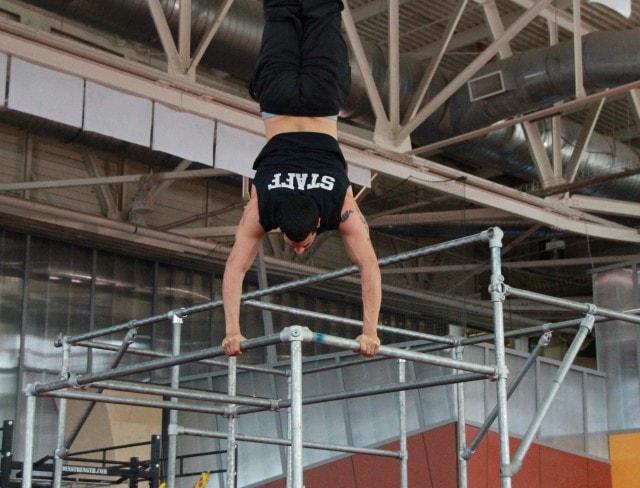 Parkour Handstand Photo on Bars