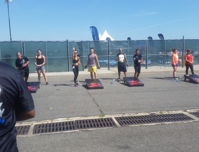 Sign up for the cornhole at Aviator Sports
