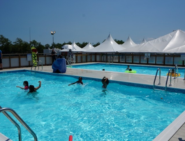 Aviator Sports at Floyd Bennett Field in Brooklyn, NY, offers birthday pool parties for kids of all ages,