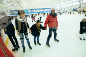 Ice skating at Aviator Sports. Photo by Jordan Rathkopf
