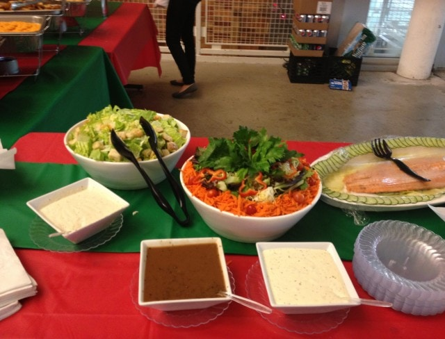 Aviators has delicious catering available for our holiday parties