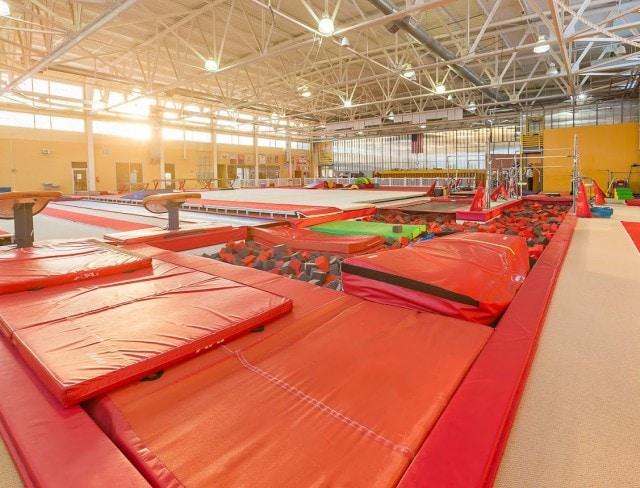 gymnastics birthday party facility
