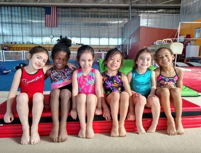 gymnastics birthday party friends
