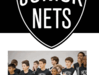 Junior Nets Summer Camp campers and logo