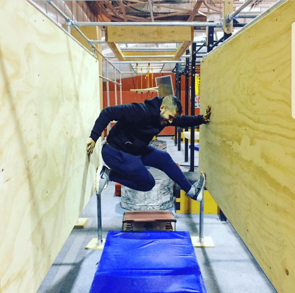 @marathonmanx on Floating Board: An American Ninja Warrior Experience