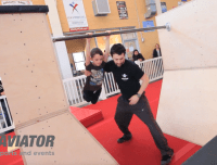 Children get to enjoy a ninja warrior style obstacle at their ninja warrior birthday party