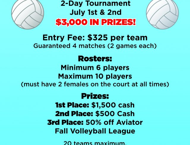 Aviator Sports Co-Ed Volleyball Showdown