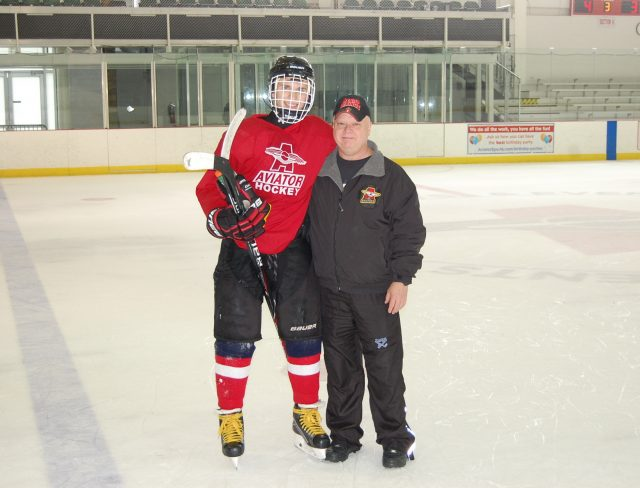 Hockey Coach and Player
