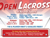 Open Lacrosse at Aviator Sports