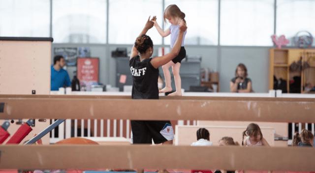 gymnast's life working on the balance beam