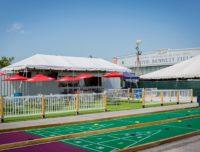 Backyard Picnic Area at Aviator Sports
