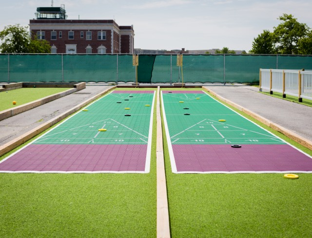 shuffleboard, outdoor shuffleboard court, shuffleboard courts, places to play shuffleboard