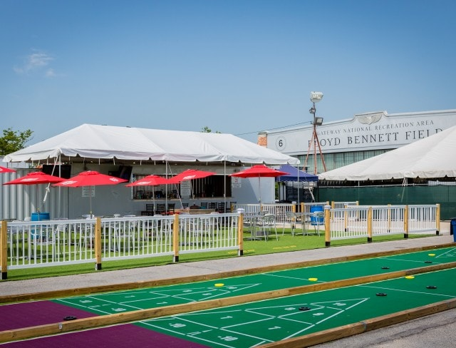 sport bar, picnic space rental and backyard space at Aviator Sports