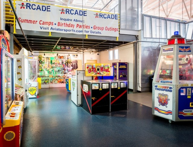 Come play at Aviator video game arcade today, game arcade, game arcades, arcades in brooklyn