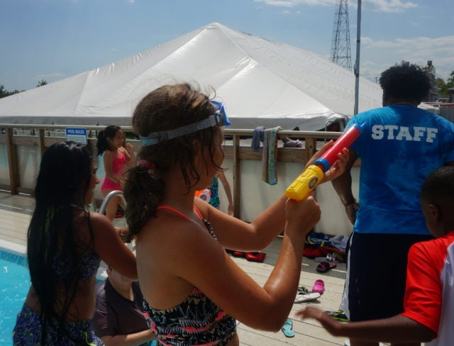 summer camp pool party new york
