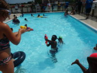 Kids at Aviator summer camp play in the pool