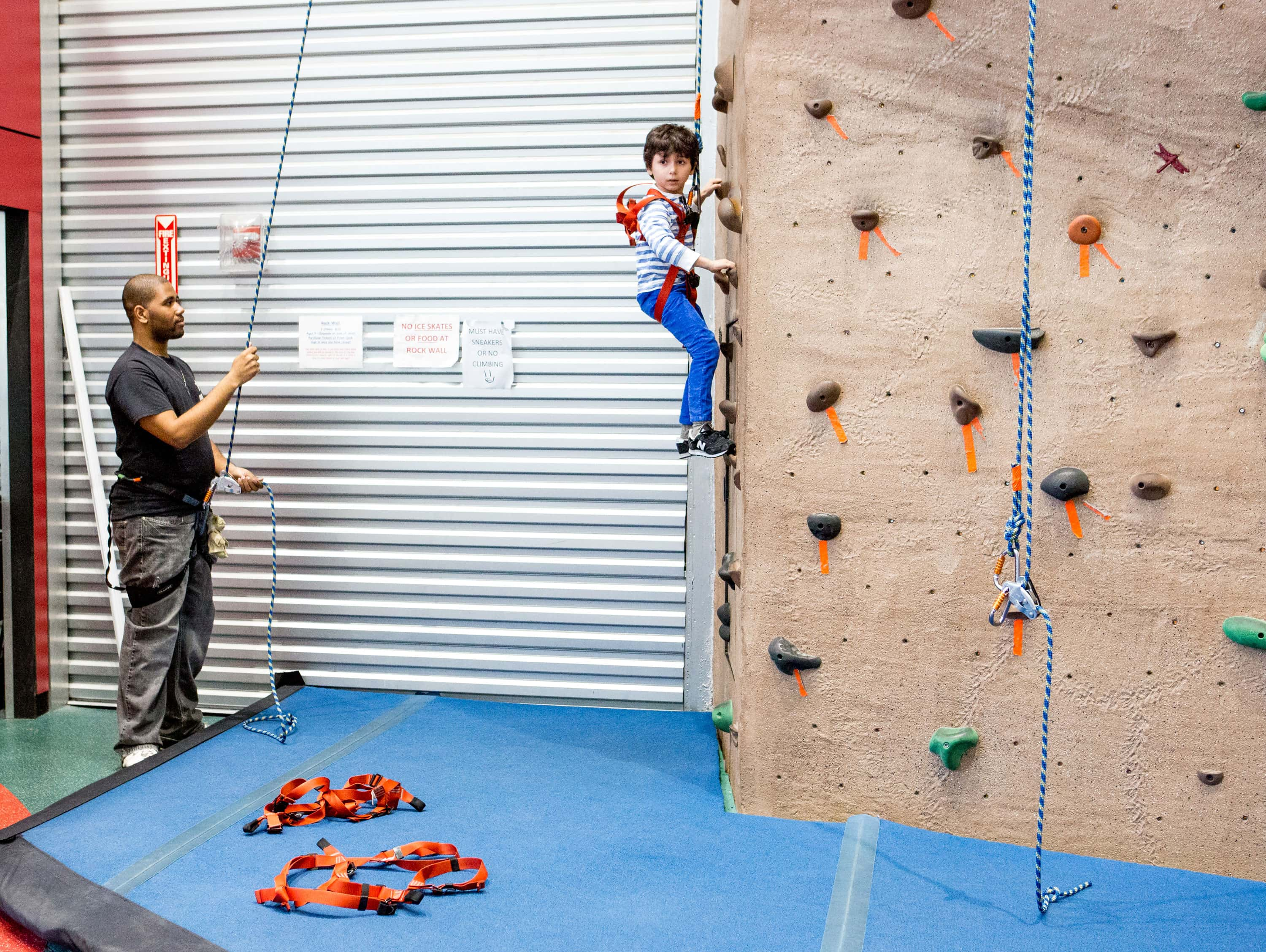 indoor rock climbing conquer our 35 foot rock wall aviator sports. Black Bedroom Furniture Sets. Home Design Ideas