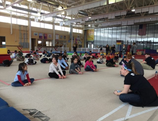 Focused attention at Gymnastics Field Trip