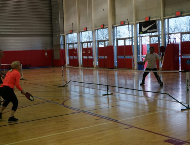 Playing Pickleball at Aviator Sports