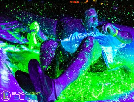 blacklight slide, neon slide, blacklight slide ny, blacklight slide brooklyn