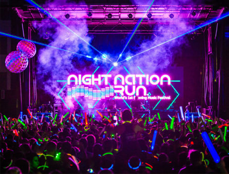 night nation run, 5k run, music festival brooklyn, concert brooklyn