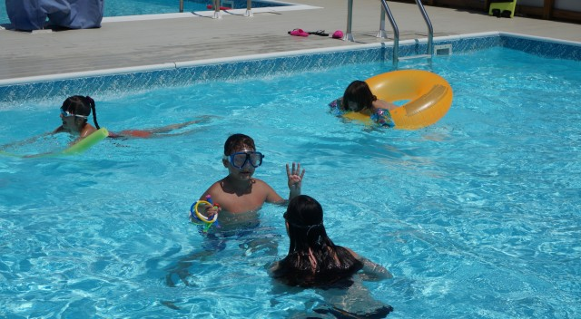 A pool party at Aviator is a fun day for all