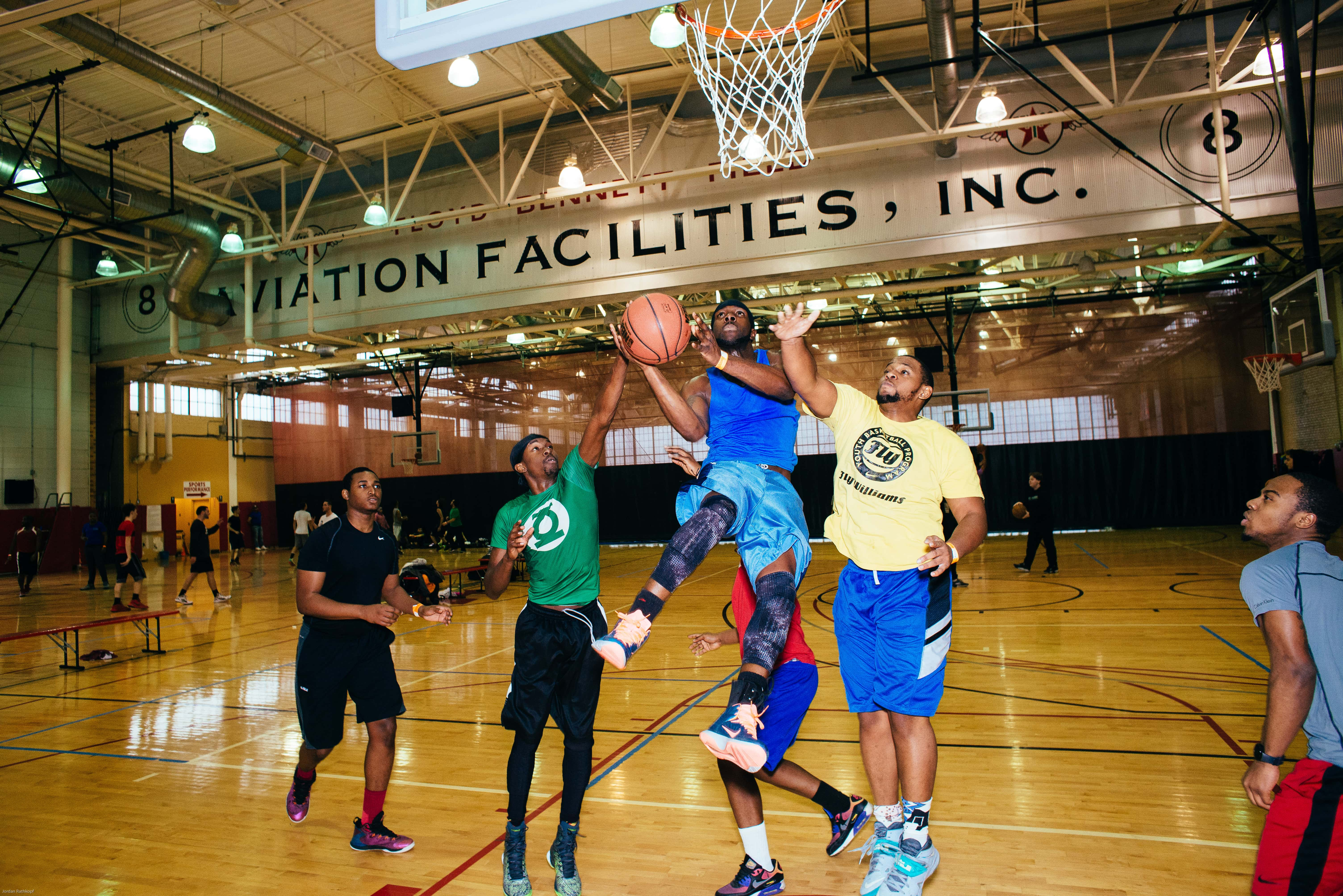 Open Basketball Indoor Basketball Court In Brooklyn