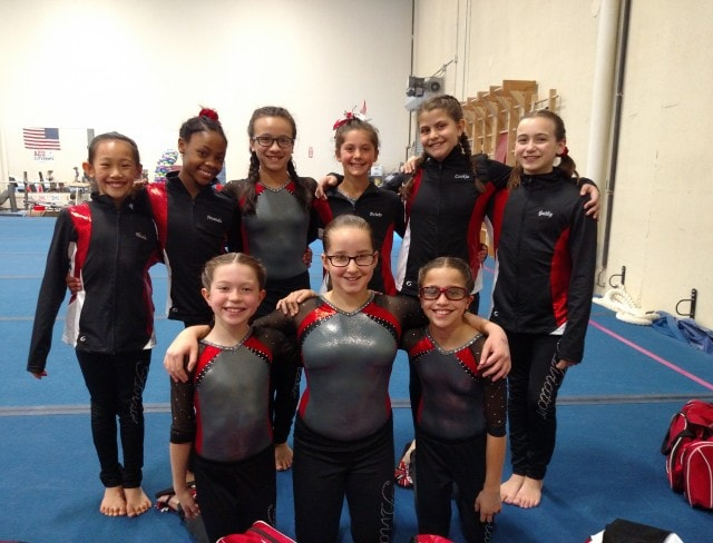 an aviator children's gymnastics team