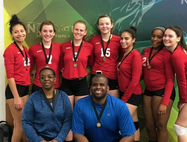 volleyball tournament win 18's