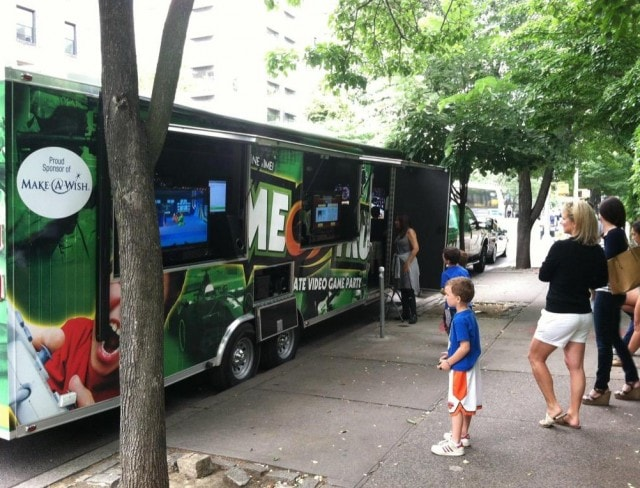 gametrucks are a full truck with multiple video game consoles.