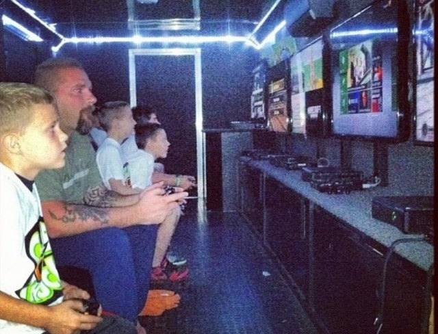 guests can play a variety of video games in a gametruck