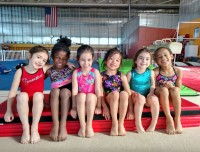 gymnastics birthday party friends