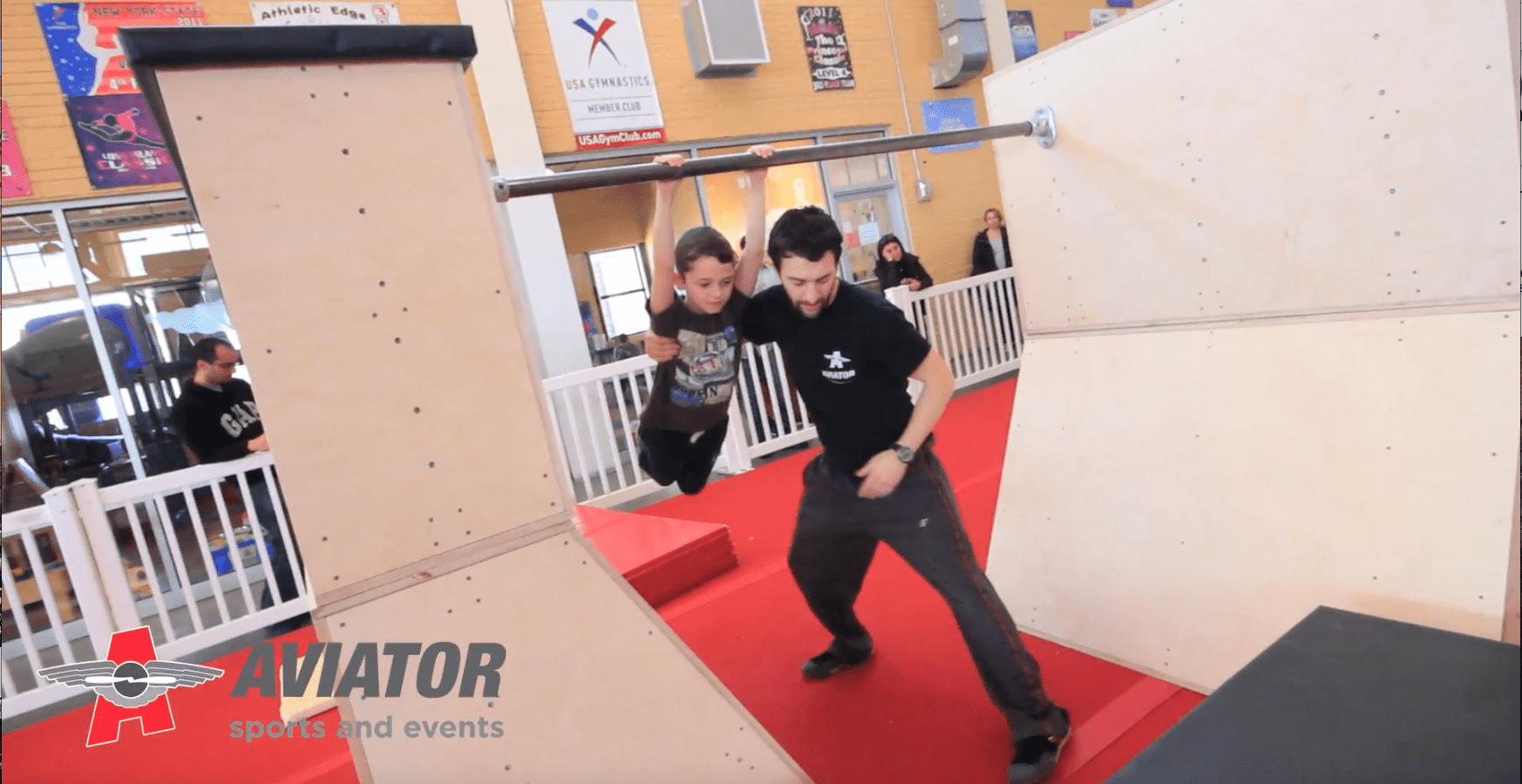 Ninja Warrior Birthday Party Aviator Sports Brooklyn Ny