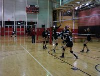 Aviator Youth Volleyball team spike