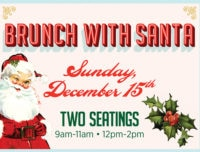 Brunch with Santa, christmas brunch, santa claus event, meet santa