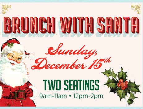Brunch with Santa, christmas brunch, santa claus event, meet santa