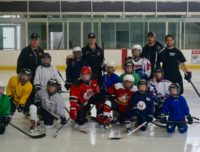 youth hockey camps team photo at aviator sports & events center in brooklyn