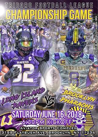 Brooklyn Pharaohs vs Long Island Ravens Poster