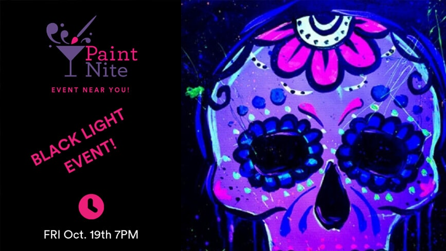 blacklight event, paint nite, blacklight paint nite
