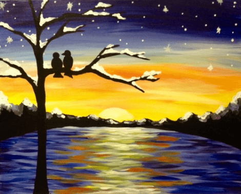 Winter Sunset Lovers