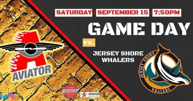 aviator premier, usphl hockey, season opener, jersey shore whalers